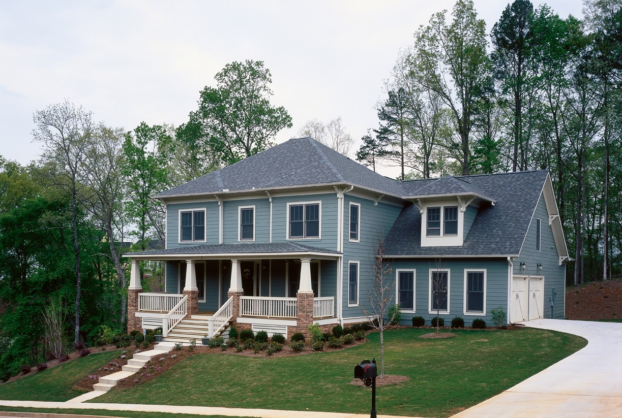 Blue Hardie Siding - Craftsman Style New Orleans