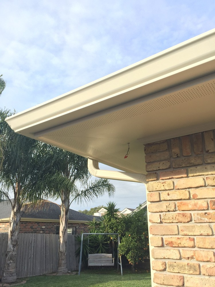 Gutters matching soffit  in New Orleans - Strong Shield