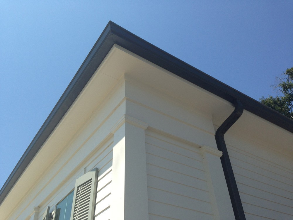 High contrast gutters on New Orleans home - Strong Shield
