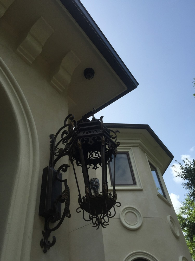 Well coordinated gutters on New Orleans home - Strong Shield