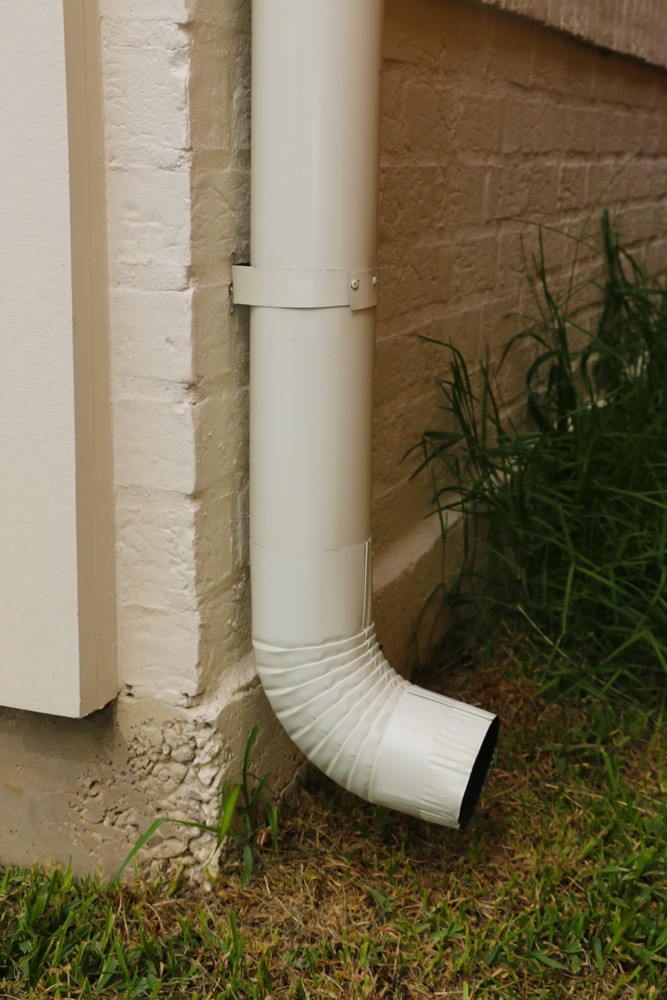 Round gutter downspout in New Orleans - Strong Shield