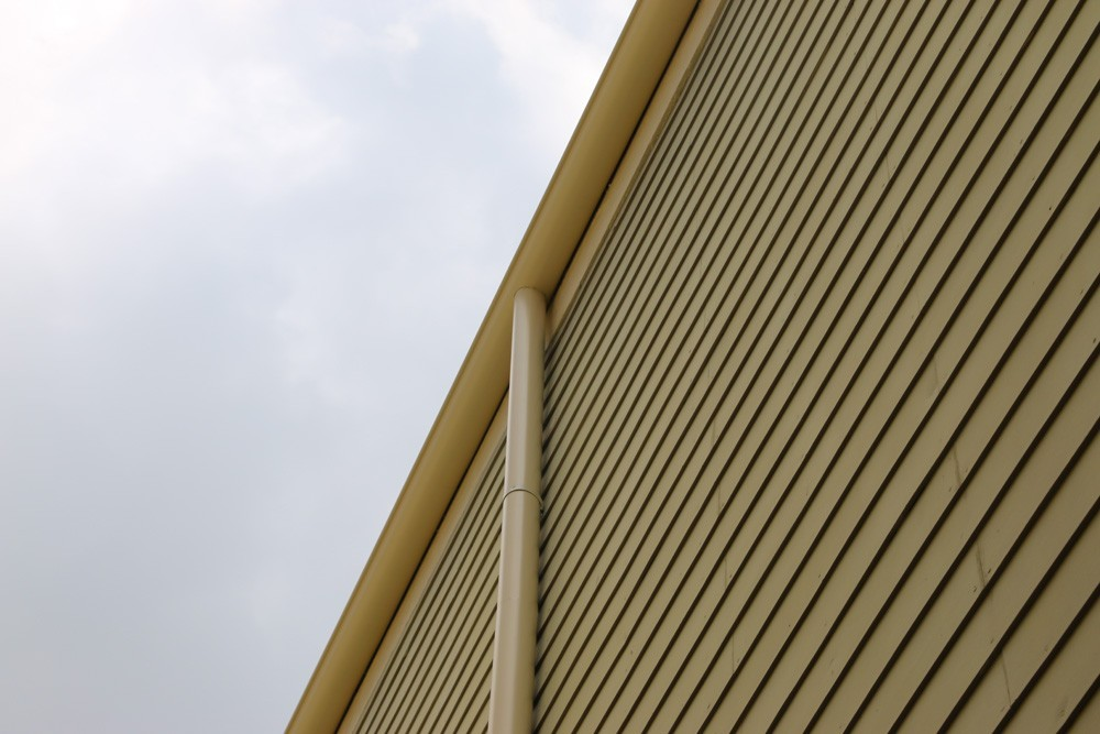 Matching round gutters in New Orleans - Strong Shield