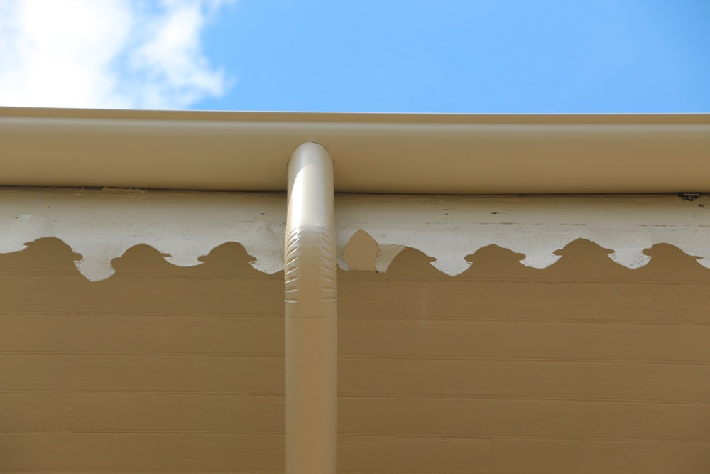 Antique gutters in New Orleans - Strong Shield