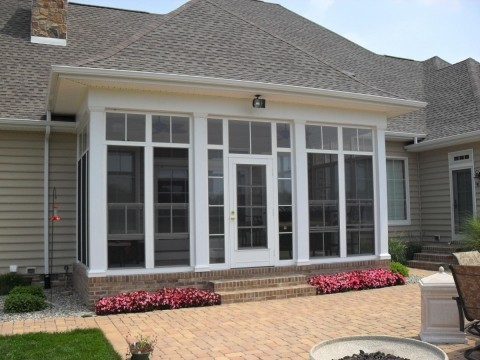 EZE Breeze Window patio enclosure in New Orleans - Strong Shield