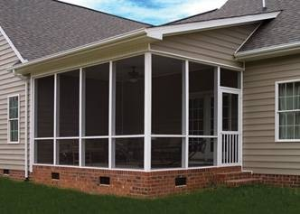 Screened patio enclosure in New Orleans - Strong Shield