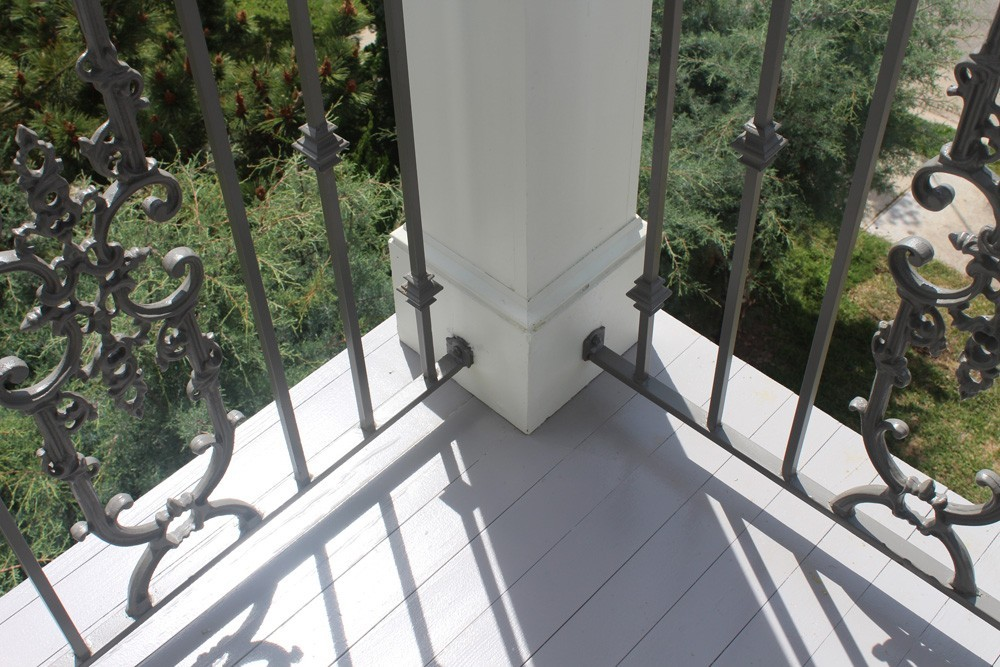 Deck with iron railing in New Orleans - Strong Shield