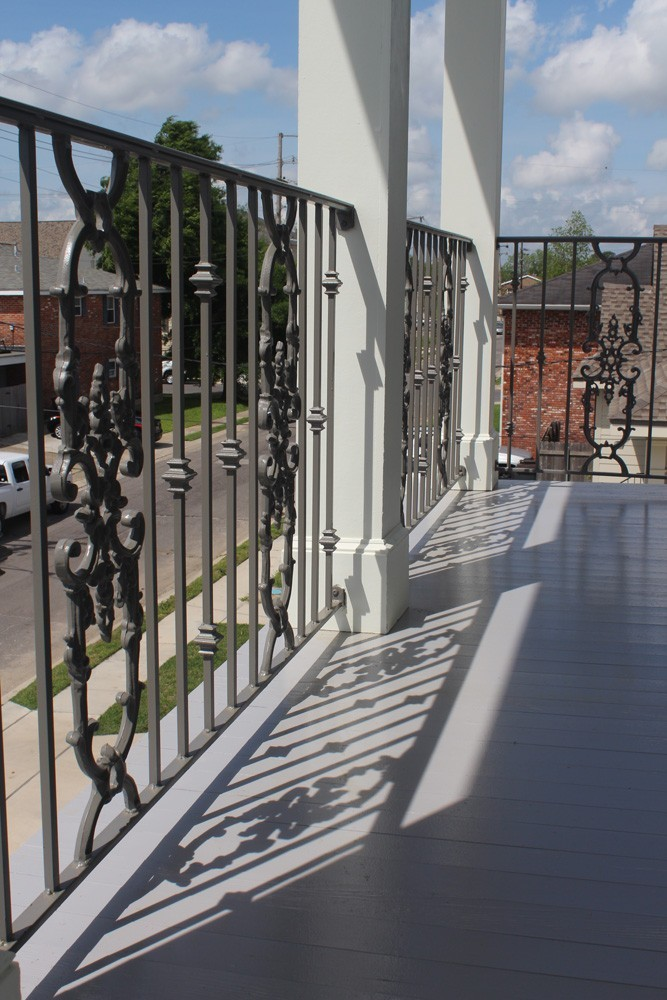 Balcony with iron railing in New Orleans - Strong Shield