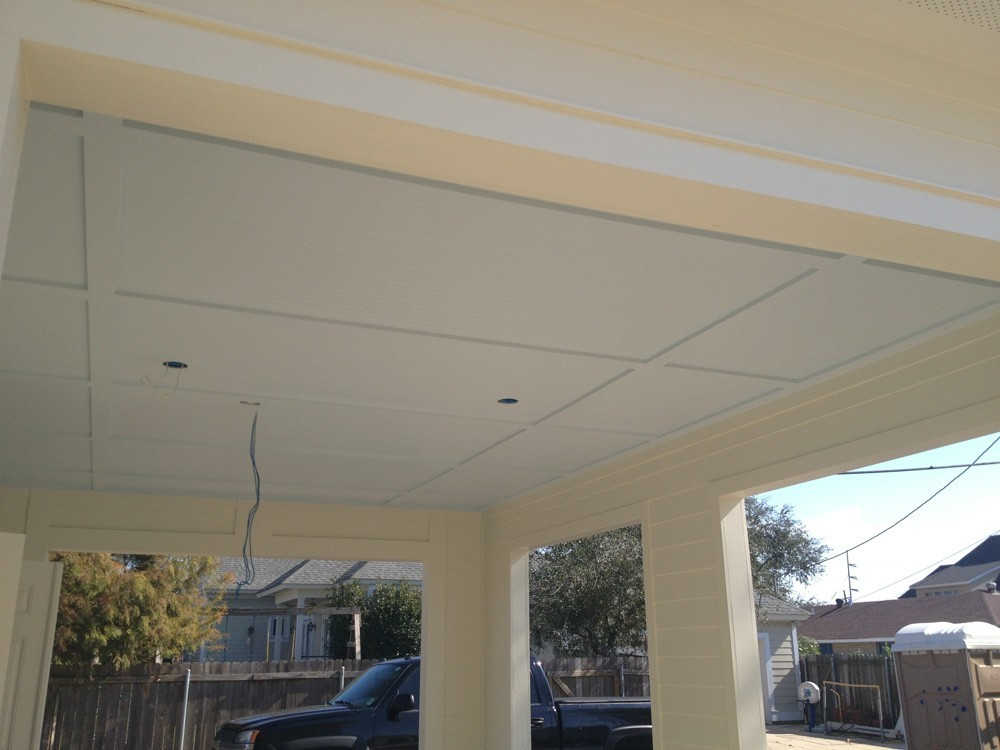 Custom trim and bead board porch in Metairie - Strong Shield