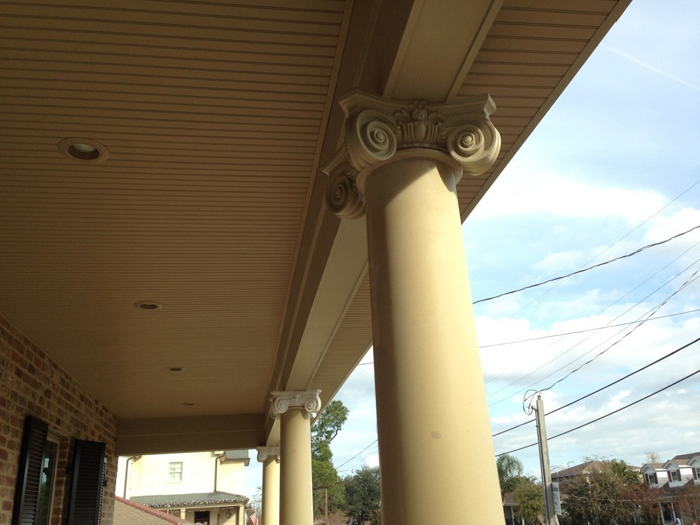 Traditional columns for Metairie porch - Strong Shield