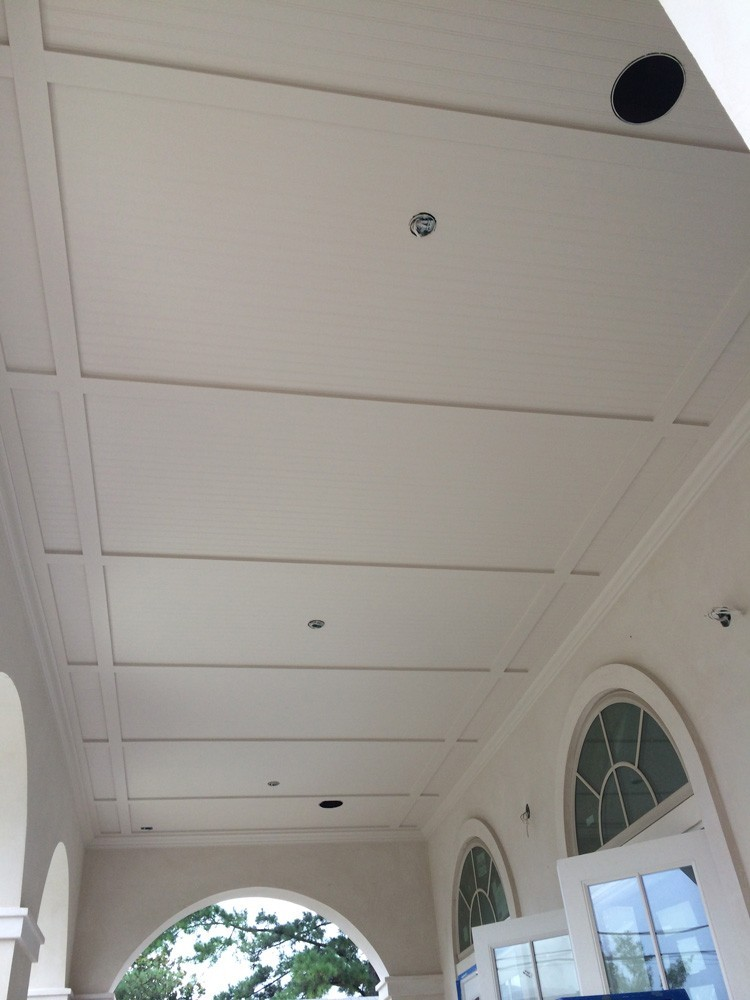 Traditional bead board and trim ceiling in New Orleans - Strong Shield