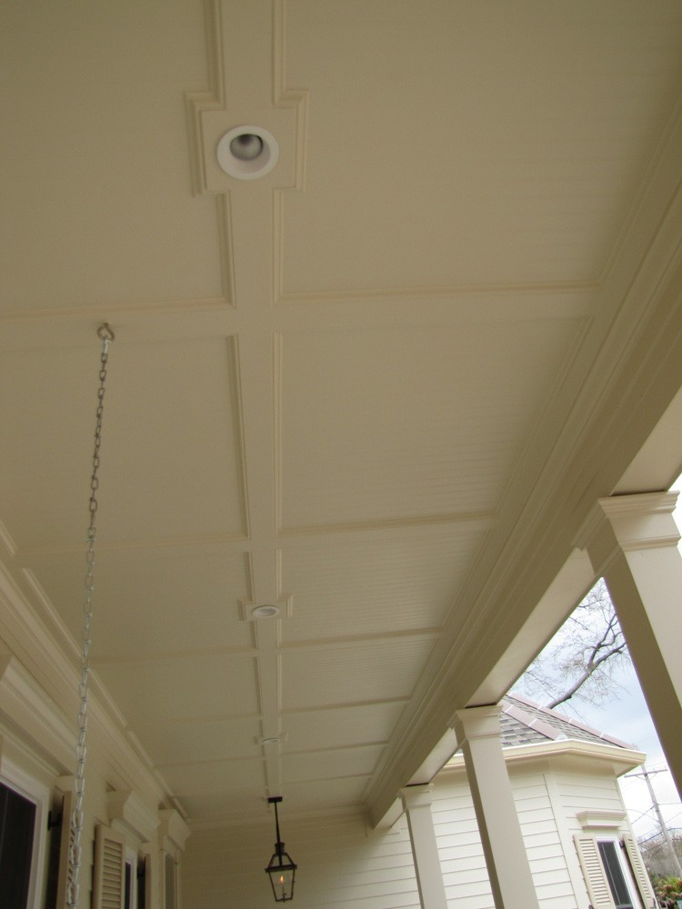 Traditional trim and bead board porch ceiling in Metairie -Strong Shield