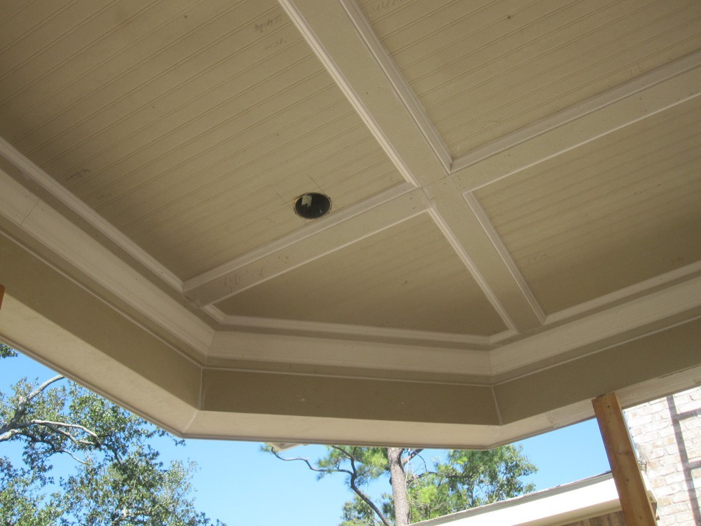 Angled porch ceiling in Metairie - Strong Shield