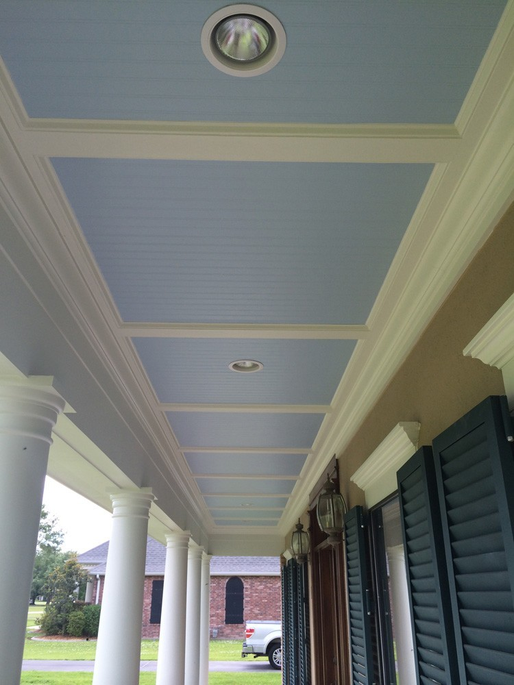 Metairie front yard porch with bead board and trim - Strong Shield