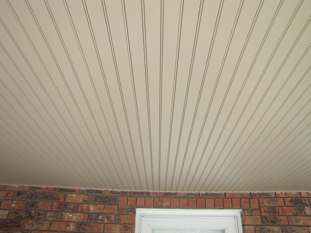 Vinyl porch ceiling for Metairie brick home - Strong Shield