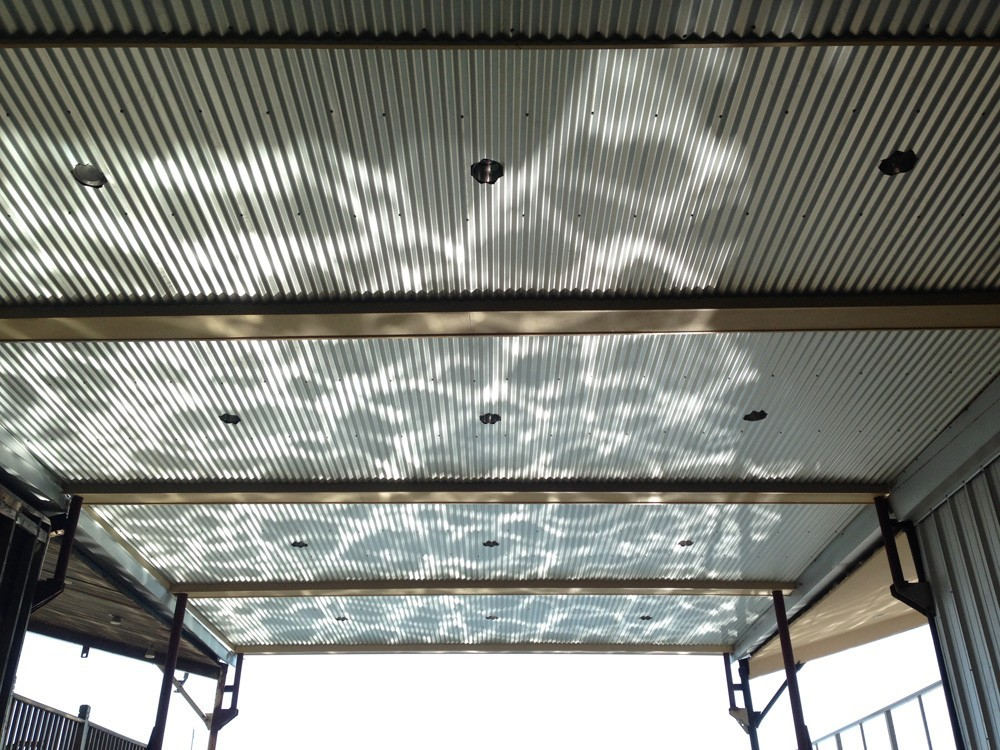 New Orleans boat slip ceiling with recessed lights - Strong Shield