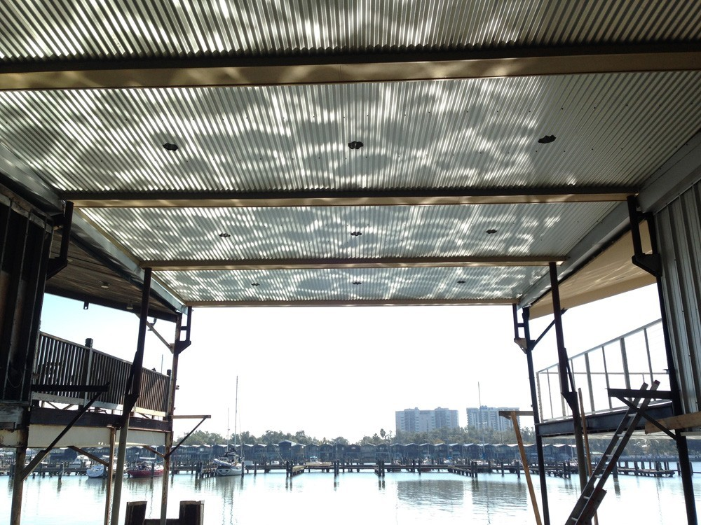 New Orleans boat slip ceiling with recessed lighting - Strong Shield