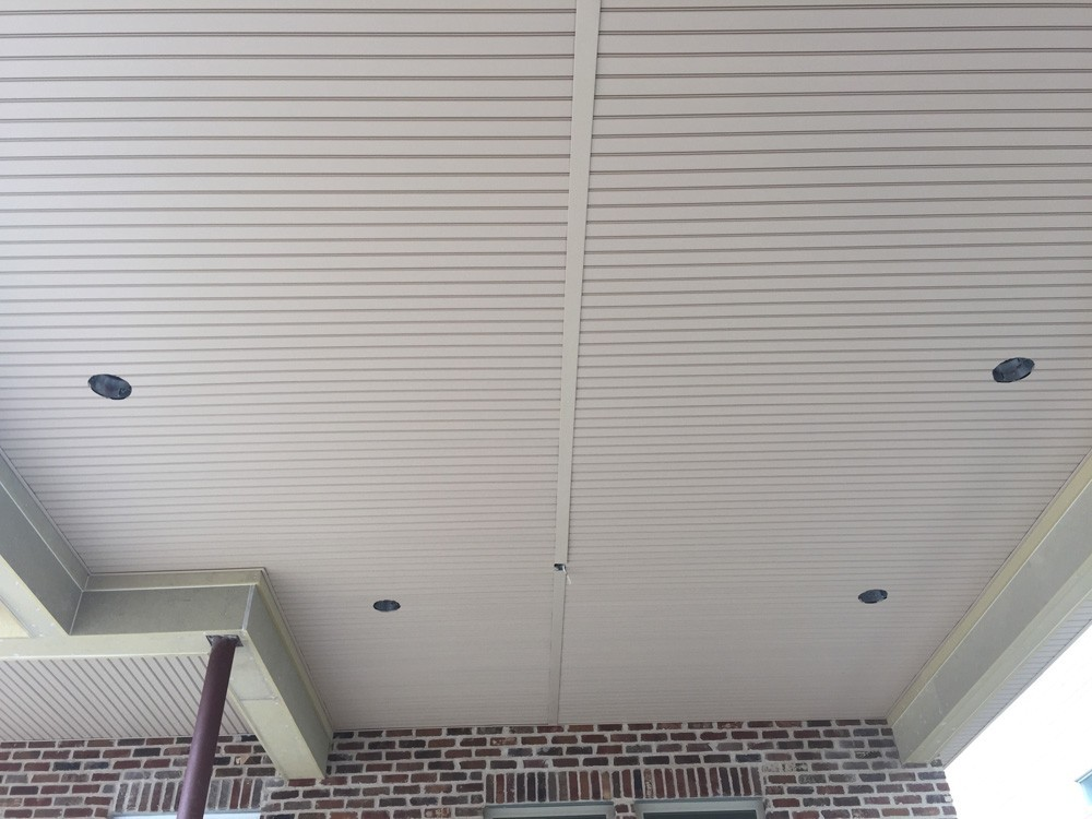 Vinyl porch ceiling with recessed lights - Strong Shield