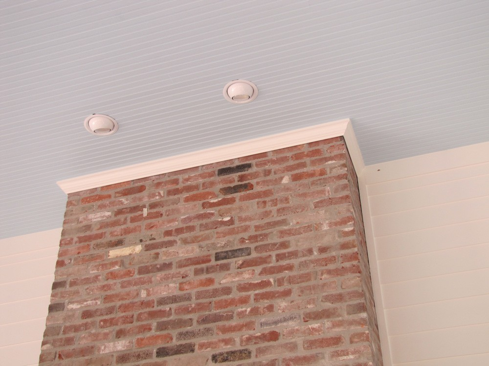 Porch ceiling with outdoor fireplace - Strong Shield