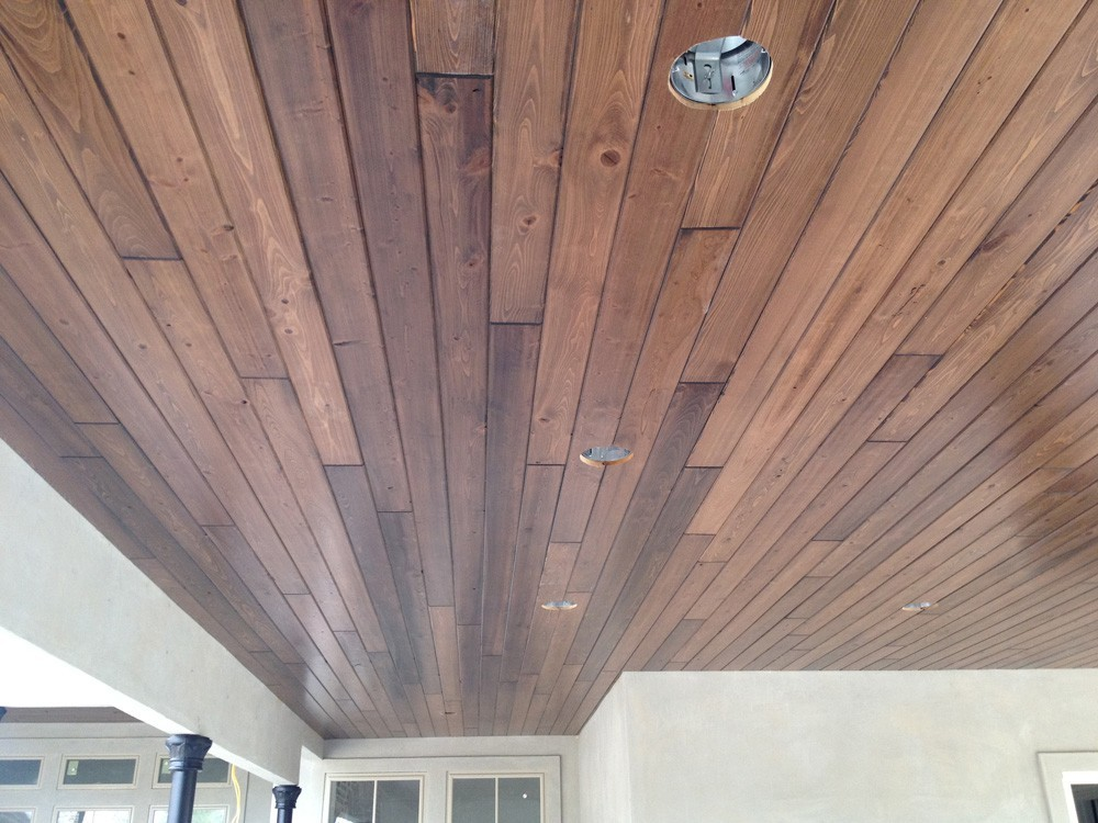 Wood porch ceiling in New Orleans and Metairie - Strong Shield