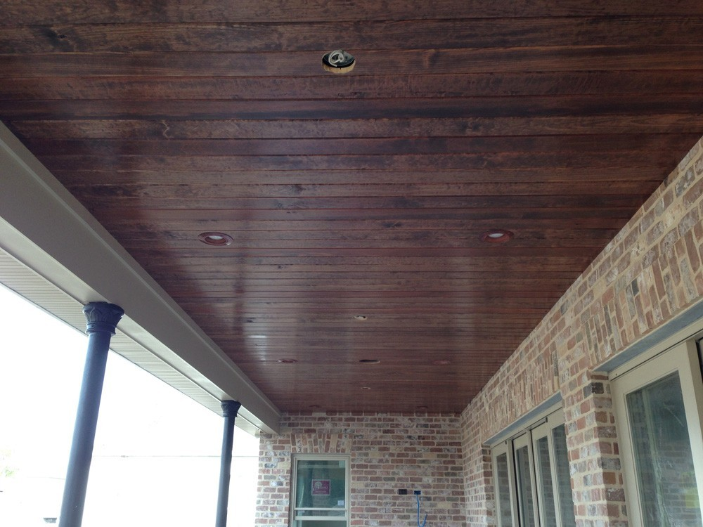 Wood porch ceiling - Strong Shield