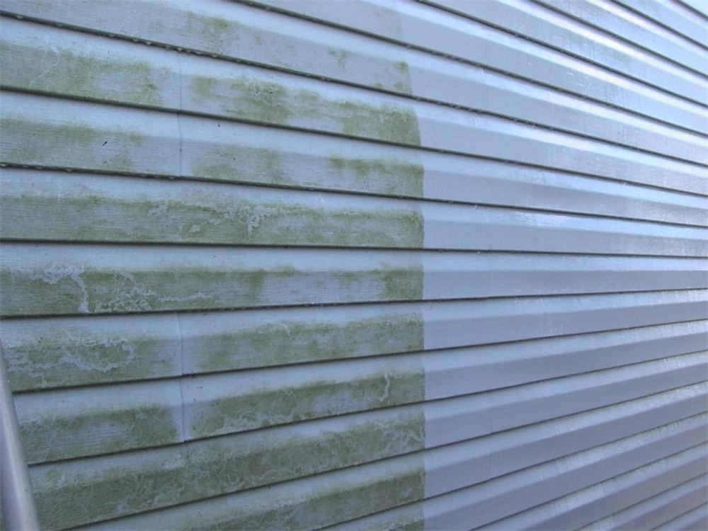 Vinyl siding pressure washing before and after - Strong Shield