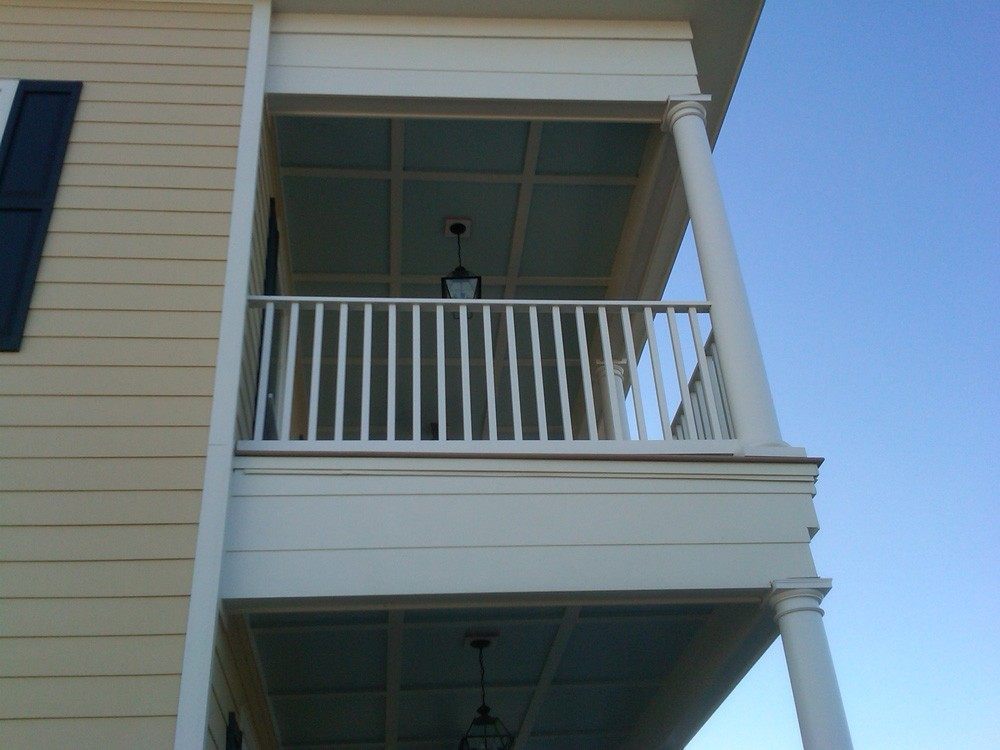 Custom painted porch and balcony for New Orleans home - Strong Shield