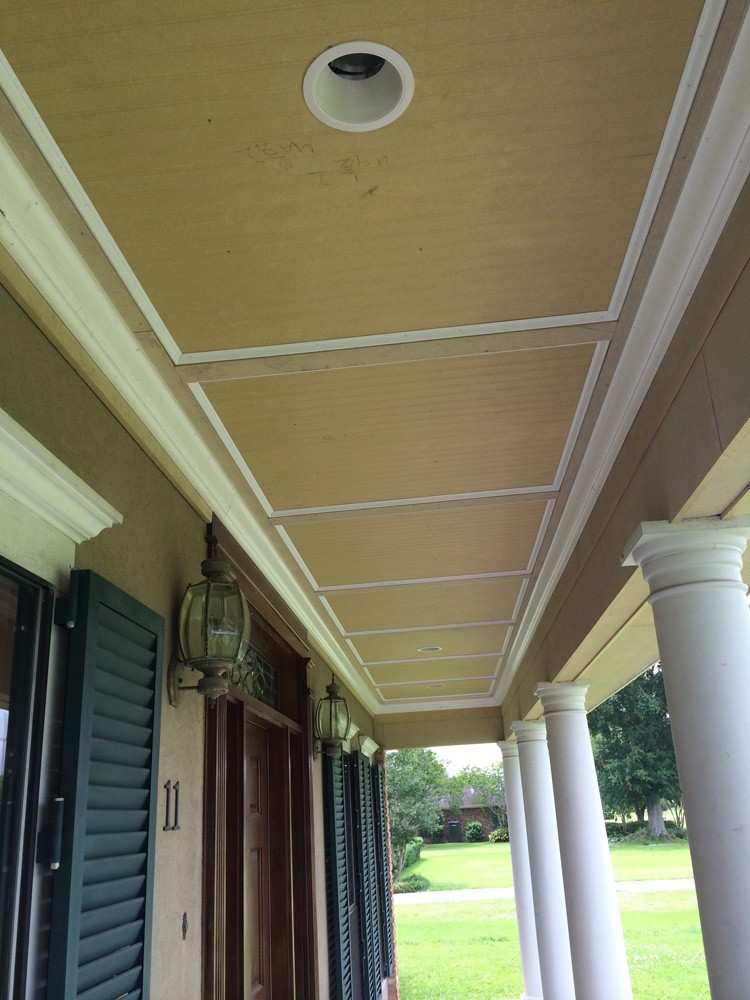 Metairie porch ceiling before painting - Strong Shield