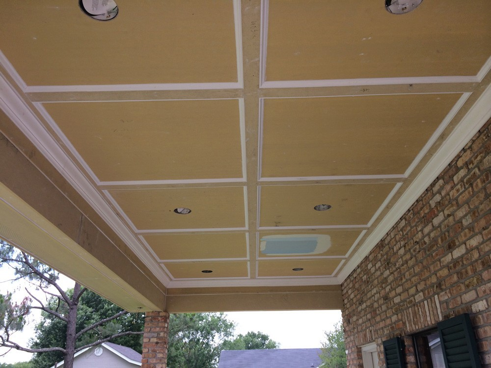 Metairie porch and trim before painting - Strong Shield