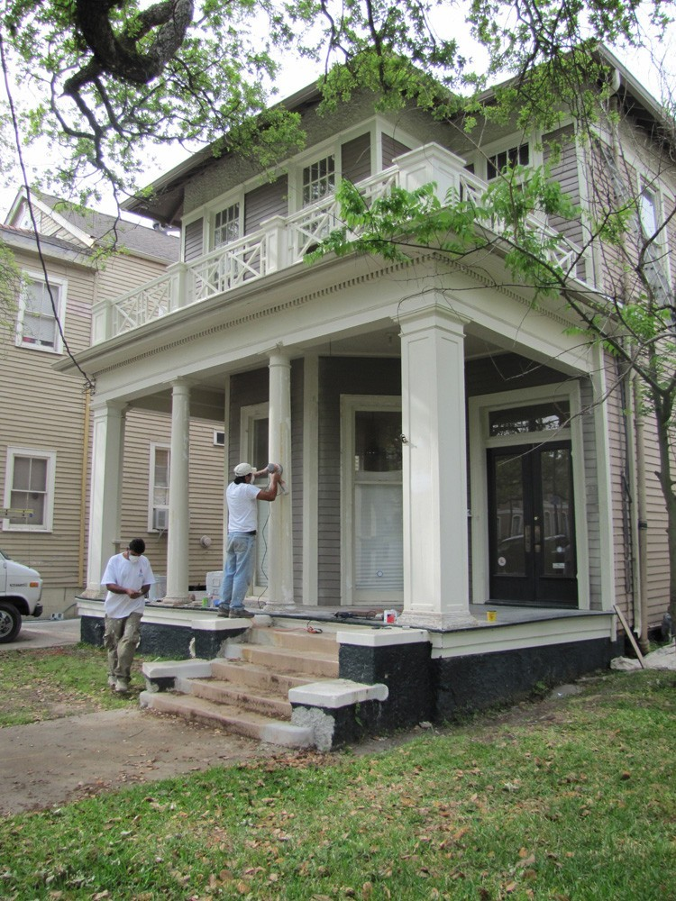 Sand and repaint porch in New Orleans - Strong Shield