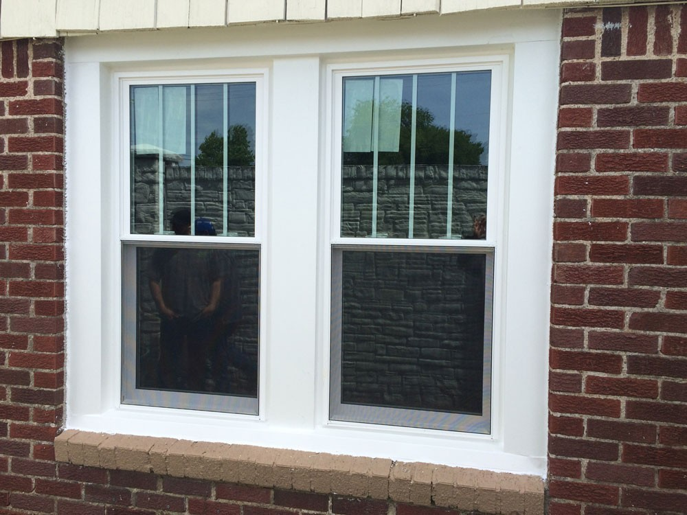 White high efficiency window replacement in Metairie - Strong Shield