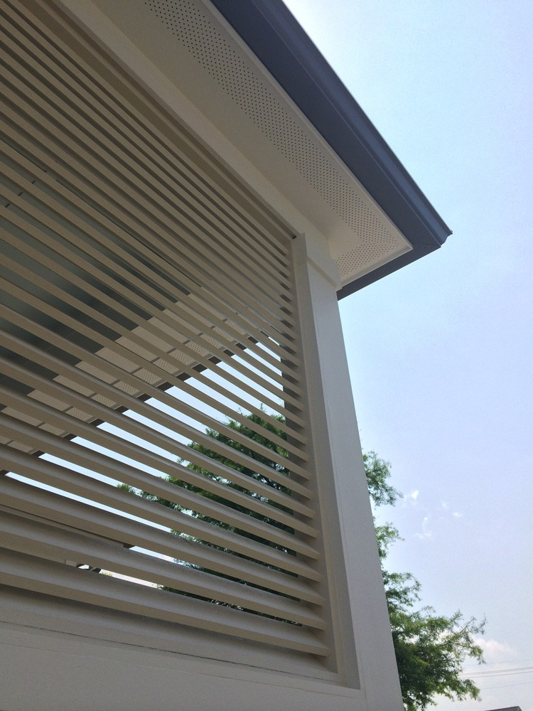 Small wood shutters for patio - Strong Shield