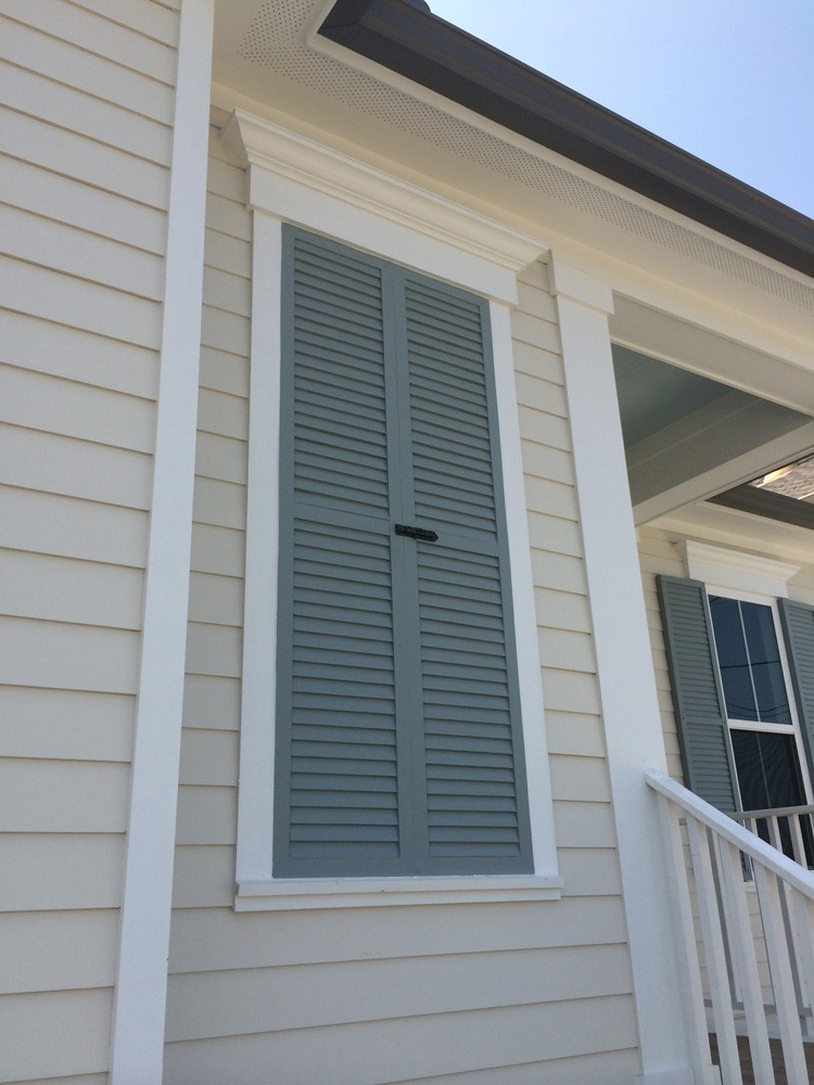 Traditional looking shutters in New Orleans - Strong Shield
