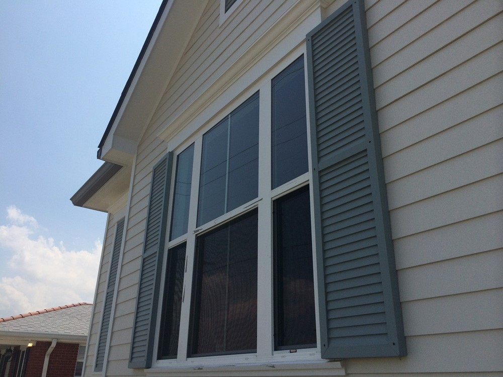 Shutter replacement on New Orleans home - Strong Shield