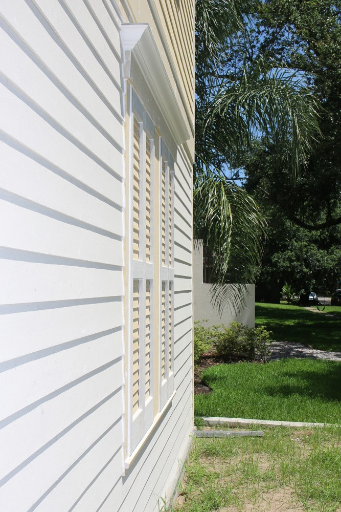 Low contrast shutter color on Metairie home - Strong Shield