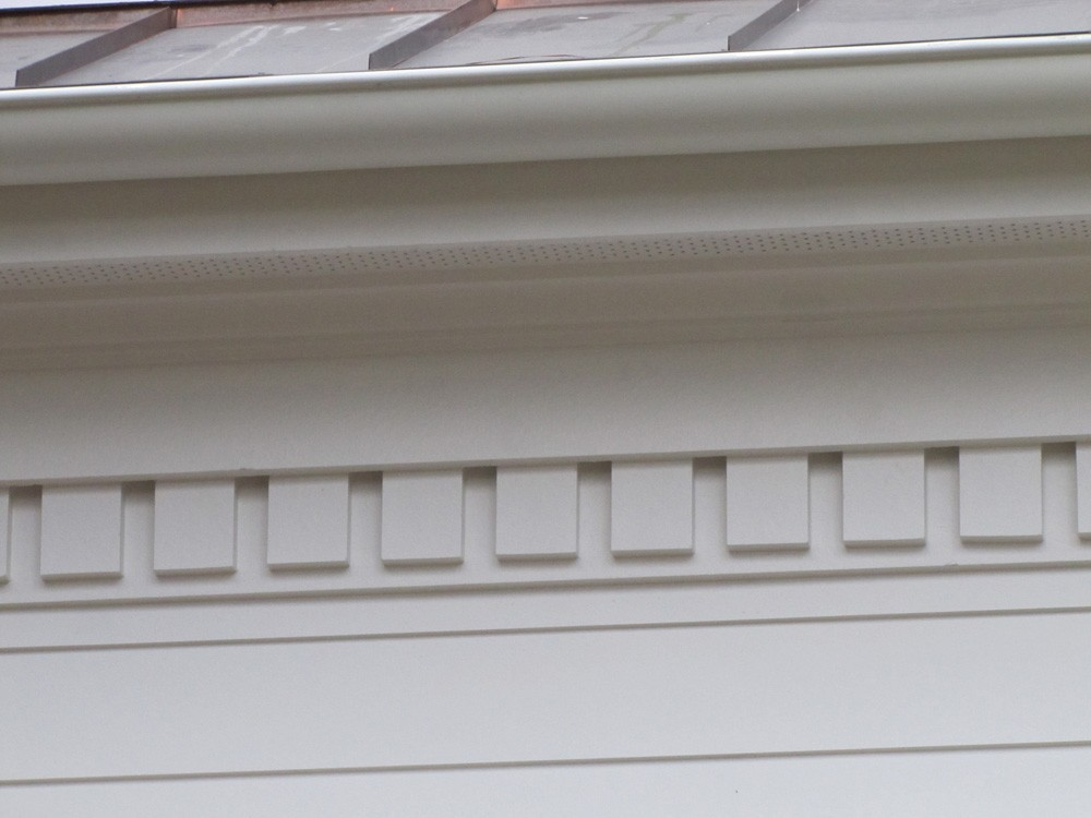 Dentil molding below eaves in Metairie - Strong Shield