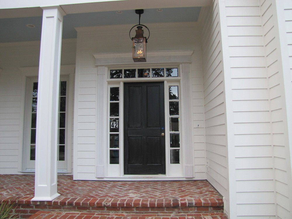Craftsman style columns and door trim - Strong Shield