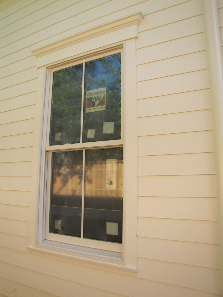Craftsman style window trim and hardie plank - Strong Shield