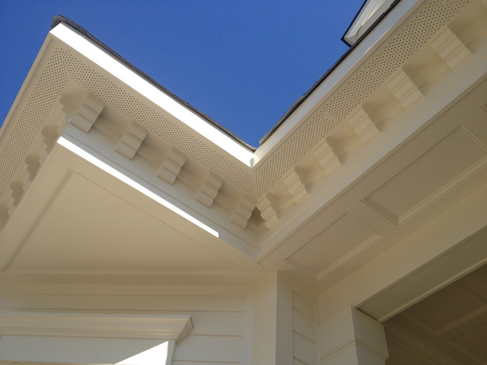 Crowning trim below soffits - Strong Shield