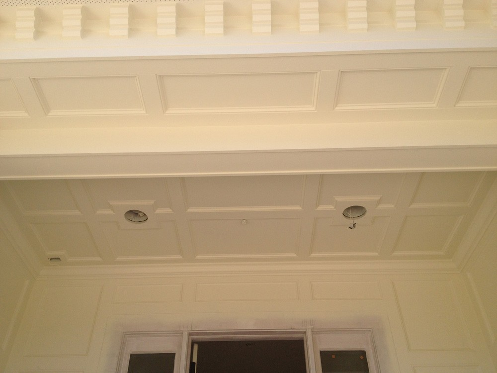 Coffered ceiling and crowning trim - Strong Shield