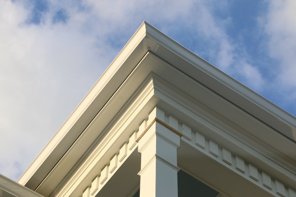 Dentil molding below eaves - Strong Shield