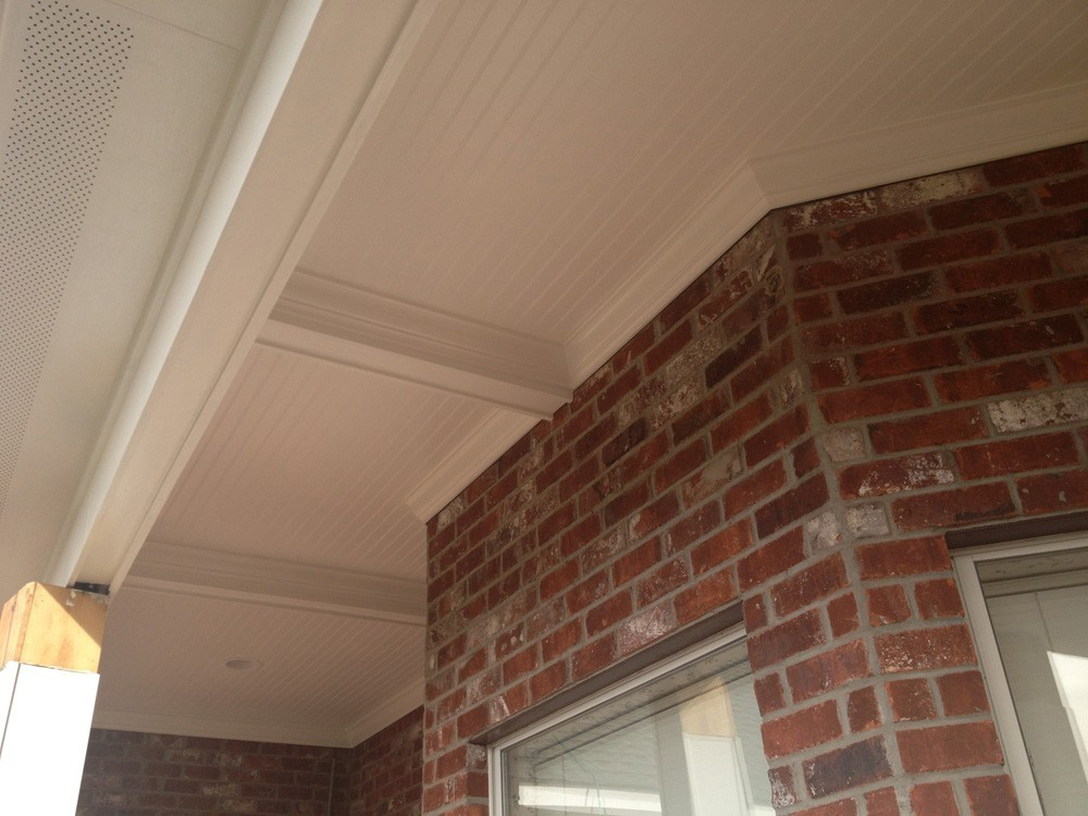 Bead board ceiling and craftsman style ceiling beam - Strong Shield