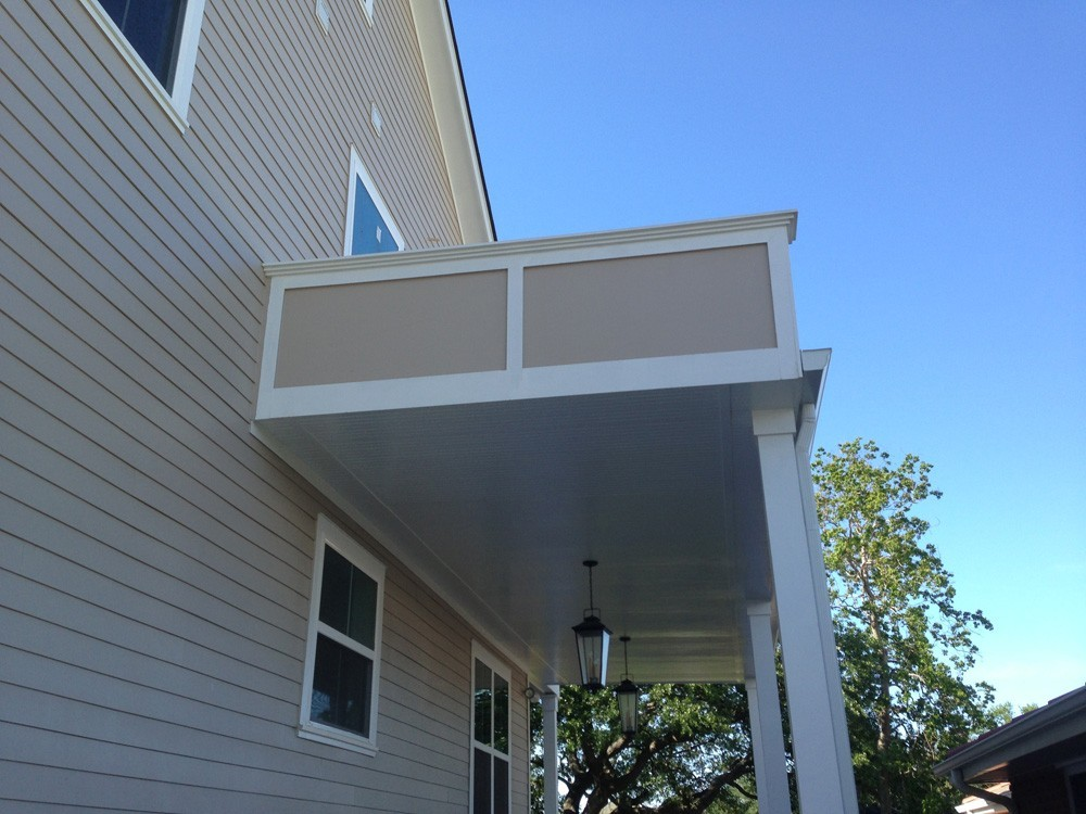 White trim work on tan home - Strong Shield