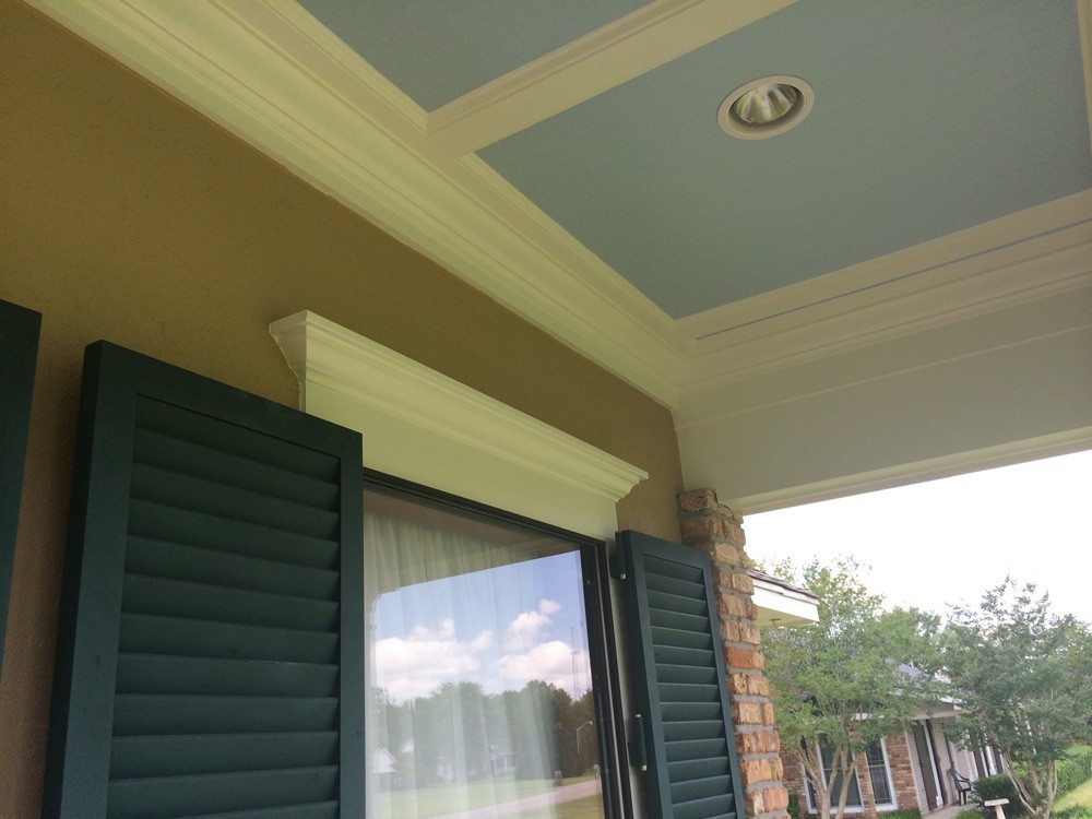 Trim work above exterior windows - Strong Shield