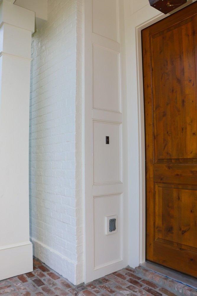 Craftsman coffered trim near front door - Strong Shield