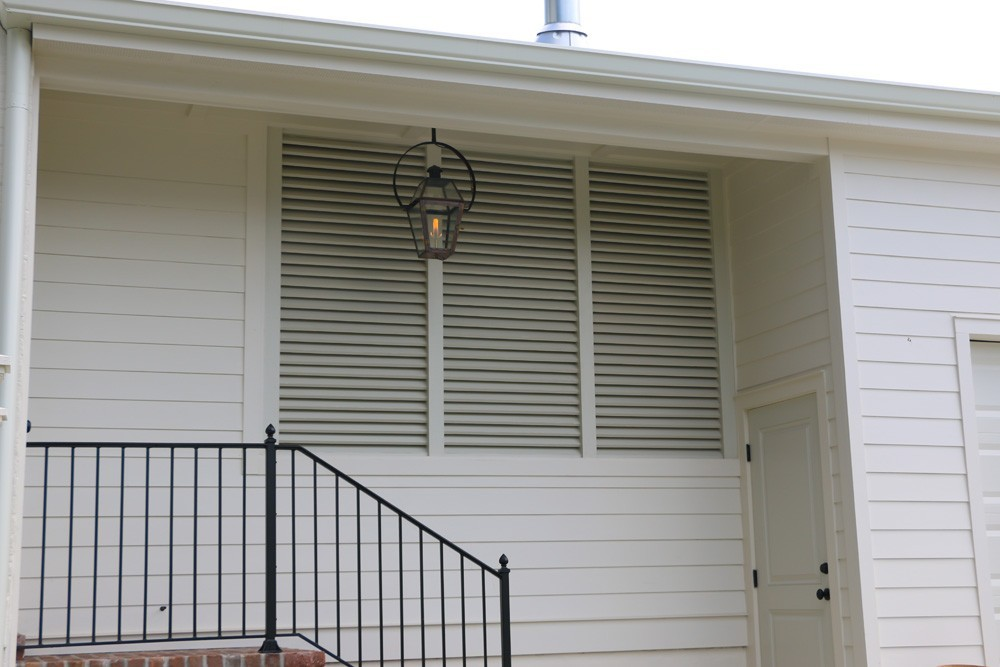 Louvered porch shutter vents - Strong Shield