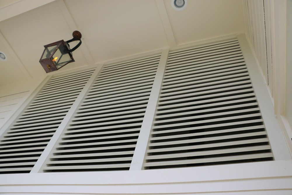 Enclosed porch shutter vents - Strong Shield
