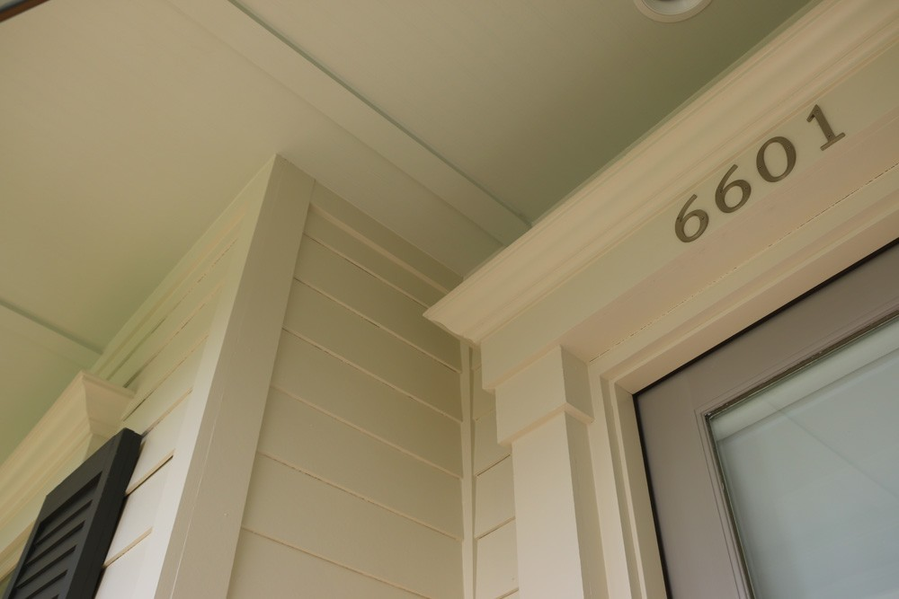 Craftsman door frame and bead board ceiling - Strong Shield