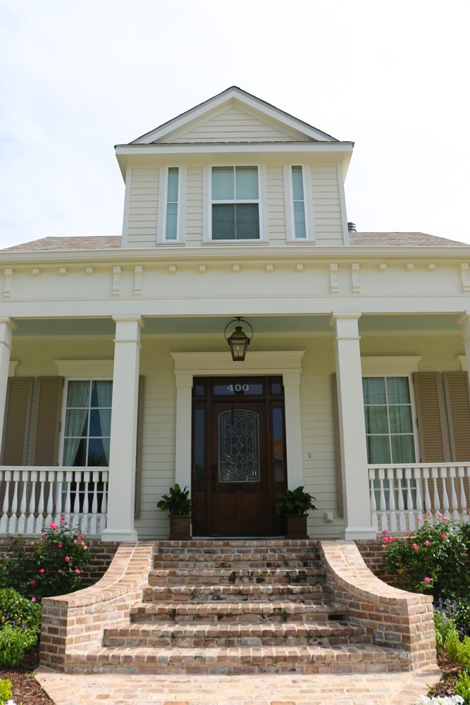 Crowning accents and craftsman trim on Metairie home - Strong Shield