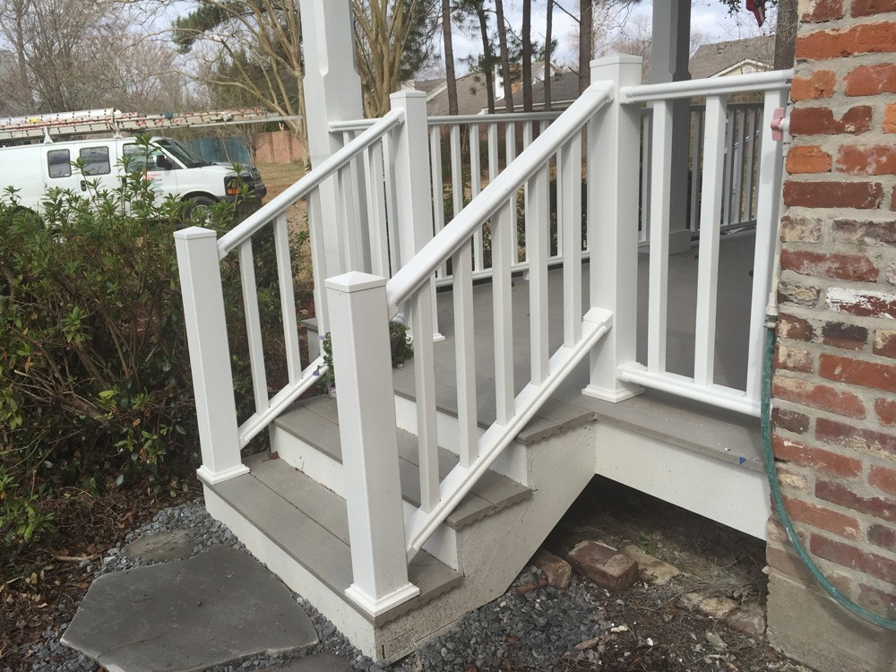 Porch steps and railing - Strong Shield